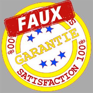 informations sur la garantie