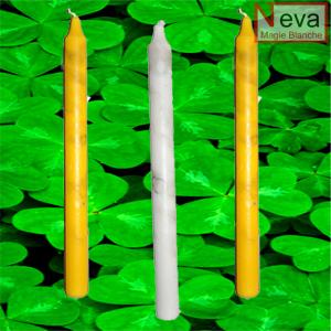 Bougies pour le rituel de chance