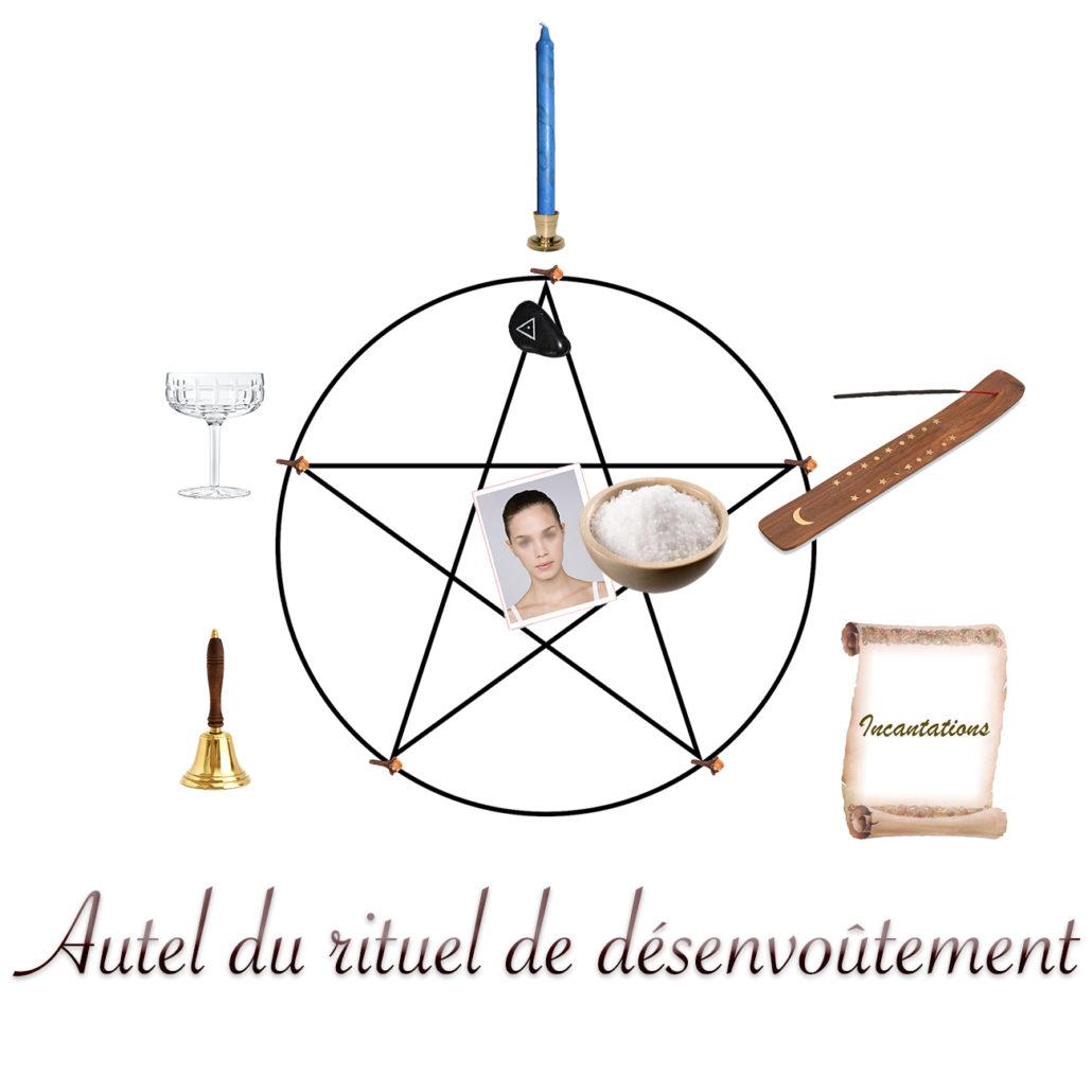 autel du rituel de désenvoutement