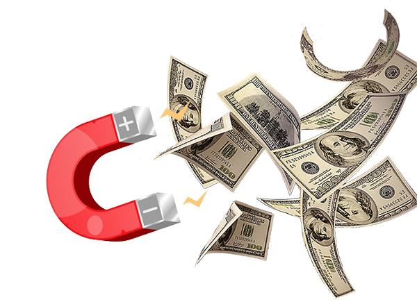 attirer de l'argent